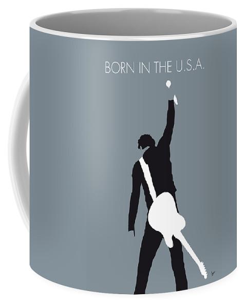 Bruce Coffee Mug featuring the digital art No017 MY Bruce Springsteen Minimal Music poster by Chungkong Art