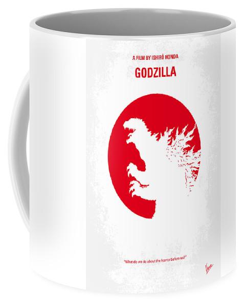 Godzilla Coffee Mug featuring the digital art No029-2 My Godzilla 1954 Minimal Movie Poster.jpg by Chungkong Art