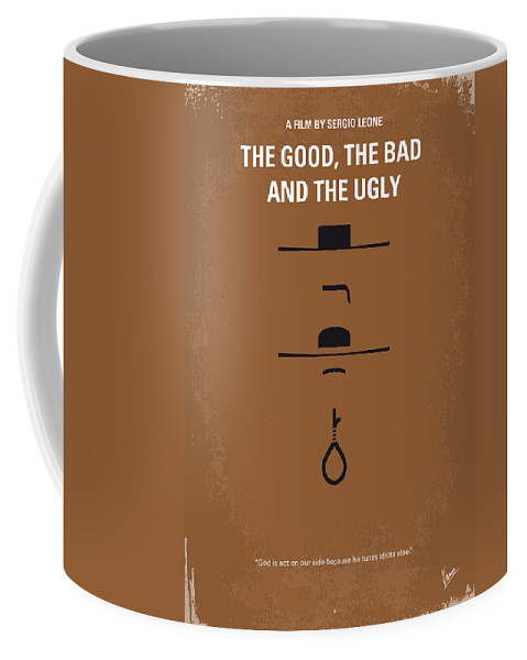 The Coffee Mug featuring the digital art No090 My The Good The Bad The Ugly minimal movie poster by Chungkong Art