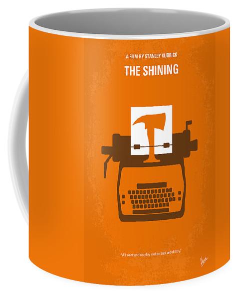 The Coffee Mug featuring the digital art No094 My The Shining minimal movie poster by Chungkong Art