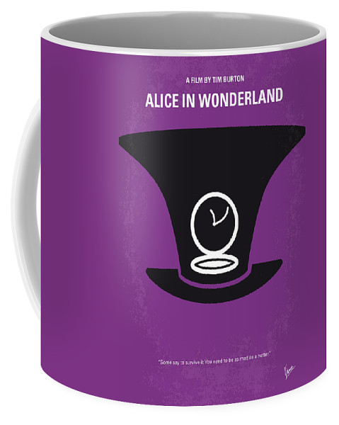 Alice Coffee Mug featuring the digital art No140 My Alice In Wonderland Minimal Movie Poster by Chungkong Art