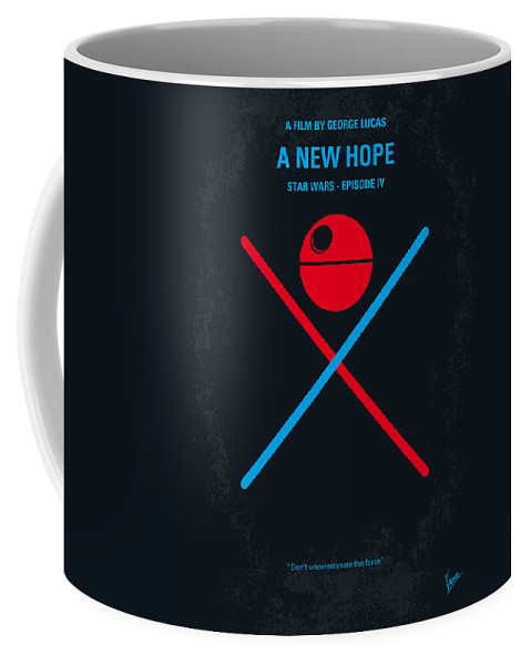 Star Coffee Mug featuring the digital art No154 My Star Wars Episode Iv A New Hope Minimal Movie Poster by Chungkong Art