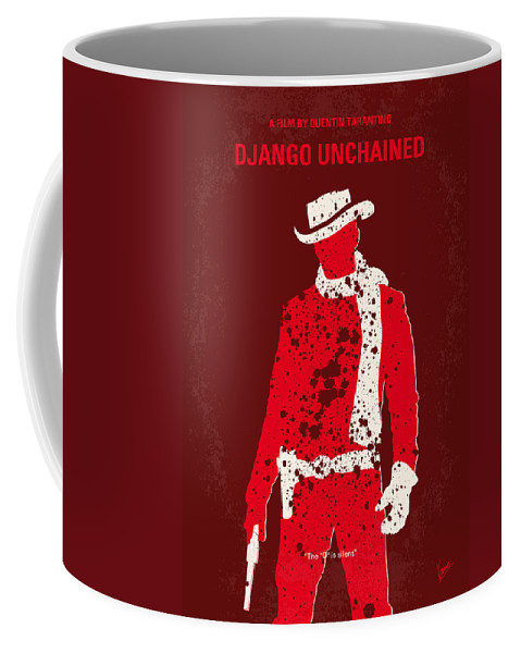 Django Coffee Mug featuring the digital art No184 My Django Unchained Minimal Movie Poster by Chungkong Art