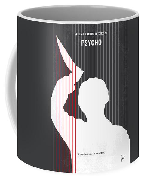 Psycho Coffee Mug featuring the digital art No185 My Psycho minimal movie poster by Chungkong Art