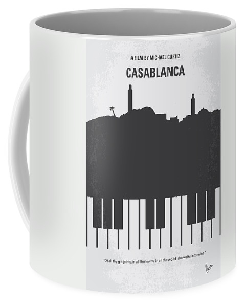 Casablanca Coffee Mug featuring the digital art No192 My Casablanca minimal movie poster by Chungkong Art
