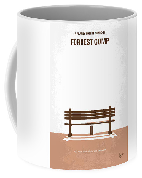 Forrest Coffee Mug featuring the digital art No193 My Forrest Gump minimal movie poster by Chungkong Art