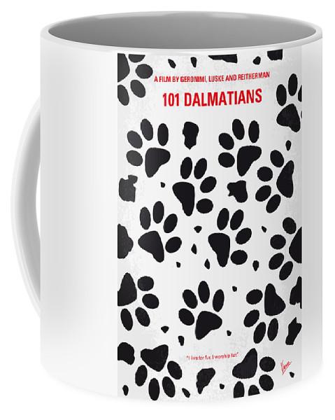 101 Coffee Mug featuring the digital art No229 My 101 Dalmatians Minimal Movie Poster by Chungkong Art