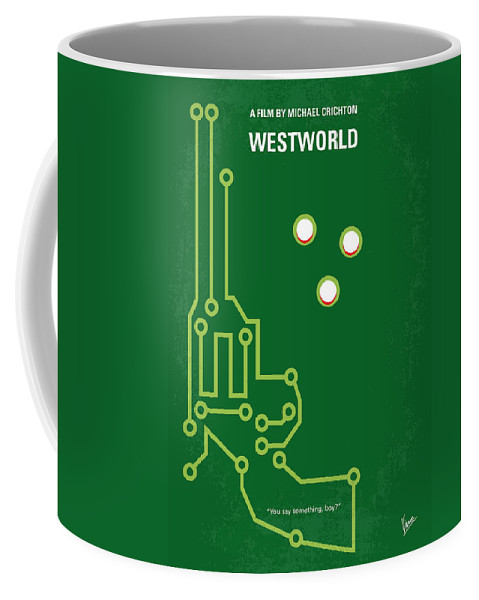Westworld Coffee Mug featuring the digital art No231 My Westworld Minimal Movie Poster by Chungkong Art