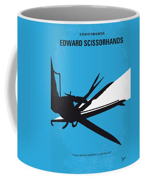 Edward Coffee Mug featuring the digital art No260 My Scissorhands Minimal Movie Poster by Chungkong Art