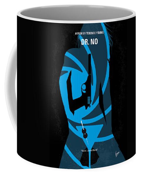 Dr Coffee Mug featuring the digital art No277-007 My Dr No Minimal Movie Poster by Chungkong Art