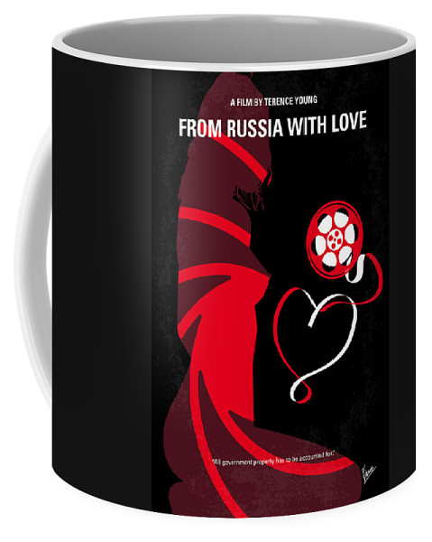 Russia Coffee Mug featuring the digital art No277-007 My From Russia With Love Minimal Movie Poster by Chungkong Art