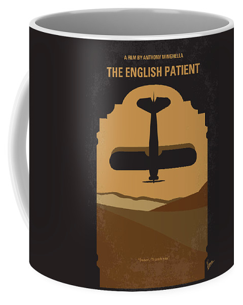 English Coffee Mug featuring the digital art No361 My The English Patient Minimal Movie Poster by Chungkong Art