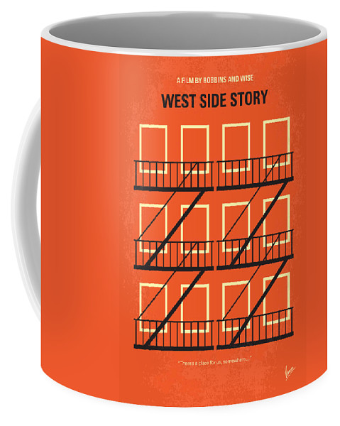 West Coffee Mug featuring the digital art No387 My West Side Story minimal movie poster by Chungkong Art