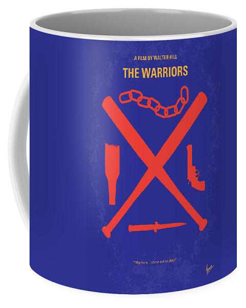 The Coffee Mug featuring the digital art No403 My The Warriors Minimal Movie Poster by Chungkong Art