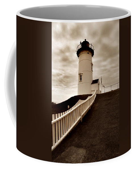 Cape Cod Coffee Mug featuring the photograph Nobska Lighthouse by Skip Willits