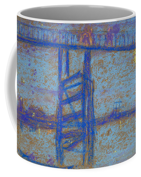 James Abbott Mcneill Whistler Coffee Mug featuring the drawing Nocturne. Battersea Bridge by James Abbott McNeill Whistler