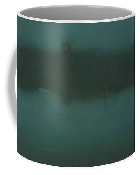 James Abbott Mcneill Whistler Coffee Mug featuring the painting Nocturne by James Abbott McNeill Whistler