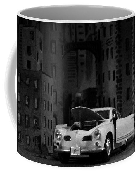 Wallpaper Buy Art Print Phone Case T-shirt Beautiful Duvet Case Pillow Tote Bags Shower Curtain Greeting Cards Mobile Phone Apple Android Nature Noir Mafia Movies Black And & White Gotham Batman Vintage Car Volkswagen Carmen Ghia Salman Ravish Khan Coffee Mug featuring the photograph Noir City by Salman Ravish