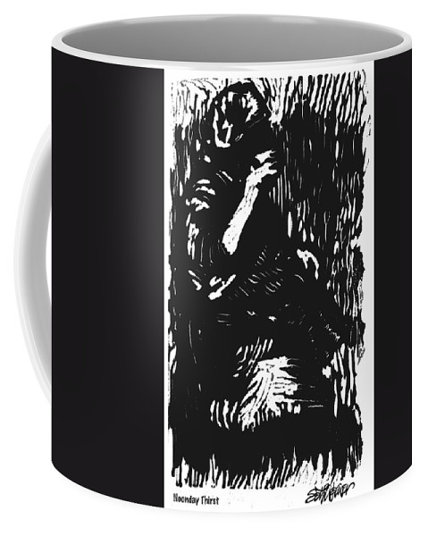 Old South Coffee Mug featuring the mixed media Noonday Thirst by Seth Weaver