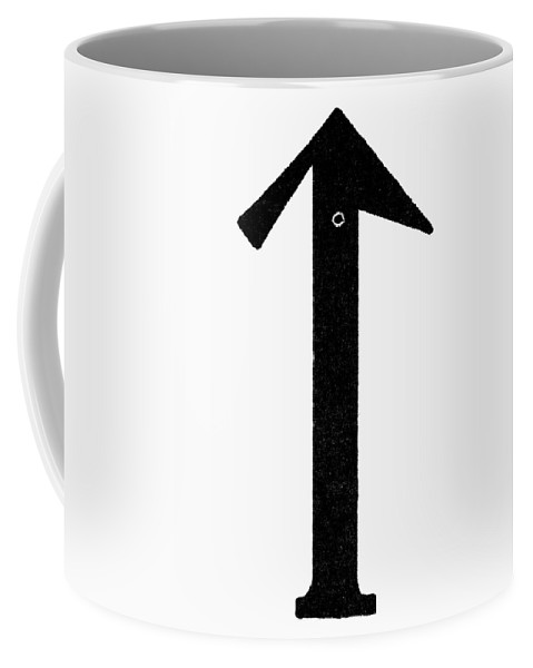Ancient Coffee Mug featuring the painting Nordic Rune Tac by Granger