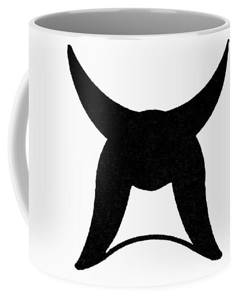 Germanic Coffee Mug featuring the painting Nordic Symbol Horns by Granger