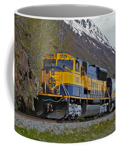Train Coffee Mug featuring the photograph North Bound by Rick Monyahan