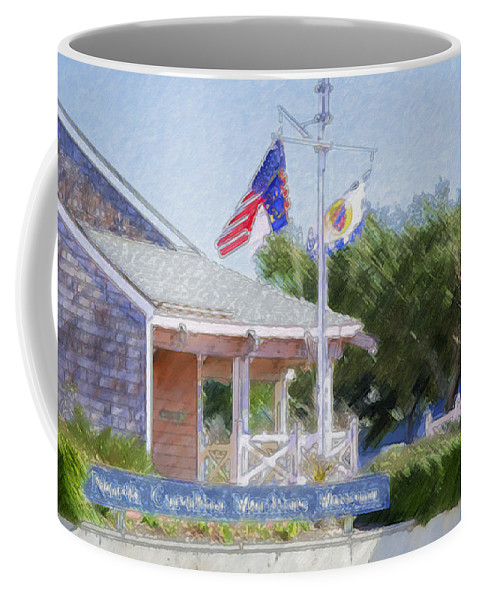 North Coffee Mug featuring the painting North Carolina Maritime Museums by Jeelan Clark