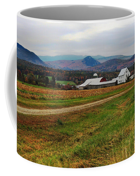 North Haverhill Coffee Mug featuring the photograph North Haverhill Farm In Fall by Nancy Griswold