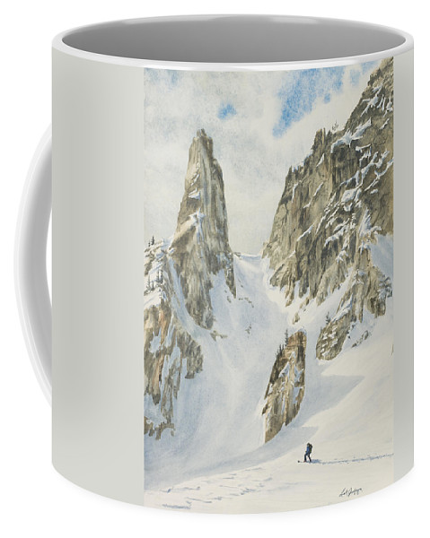 Skiing Coffee Mug featuring the painting North by Link Jackson