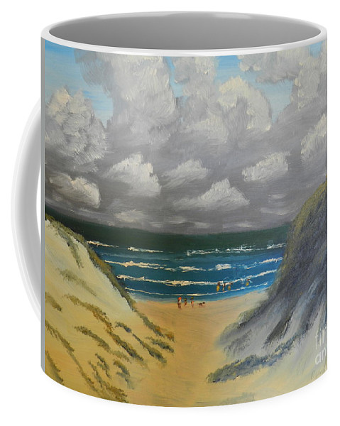 Impressionism Coffee Mug featuring the painting North Windang Beach by Pamela Meredith