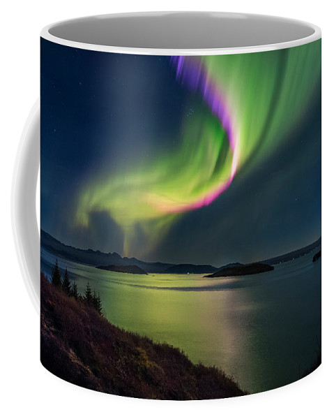 Photography Coffee Mug featuring the photograph Northern Lights Over Thingvallavatn Or by Panoramic Images