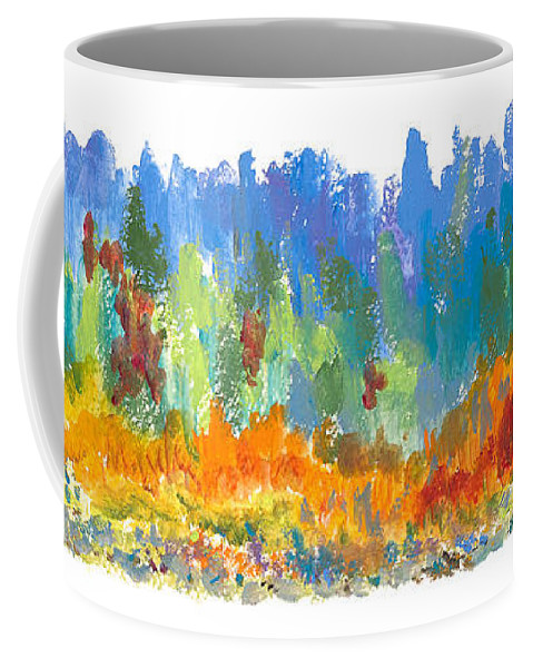 Contemporary Coffee Mug featuring the painting Northern Shore by Bjorn Sjogren