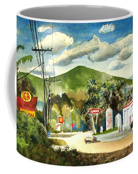 Nostalgia Arcadia Valley 1985 Coffee Mug featuring the painting Nostalgia Arcadia Valley 1985 by Kip DeVore