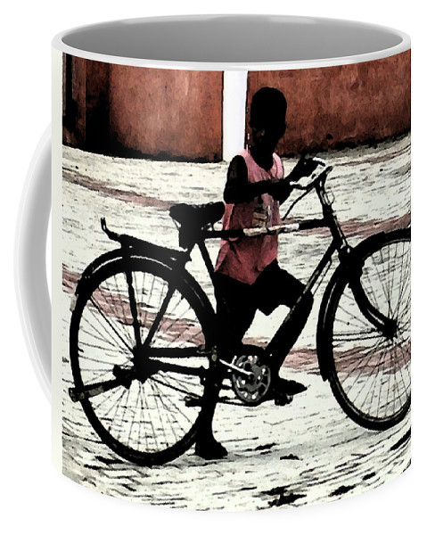 Art Coffee Mug featuring the digital art Not So Big For Me by Bliss Of Art