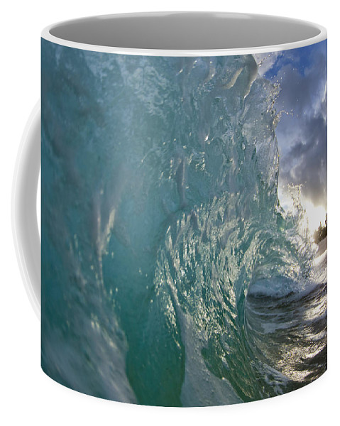 Coconut Curl Coffee Mug featuring the photograph Coconut Curl by Sean Davey
