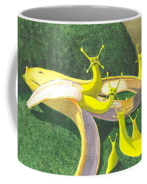 Slug Coffee Mug featuring the painting Nothing Happened by Catherine G McElroy