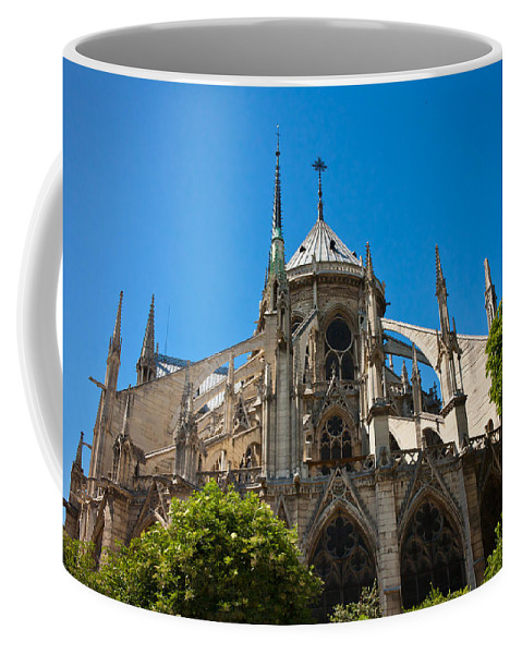 Notre Dame Coffee Mug featuring the photograph Notre Dame Cathedral by Anthony Doudt