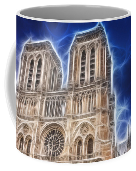 Notre Dame Coffee Mug featuring the photograph Notre Dame Fractal by Pati Photography