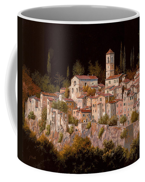 Tuscany.landscape Coffee Mug featuring the painting Notte Senza Luna by Guido Borelli