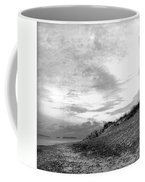 B&w Coffee Mug featuring the photograph November Dusk At Linwood's by Timothy Bischoff