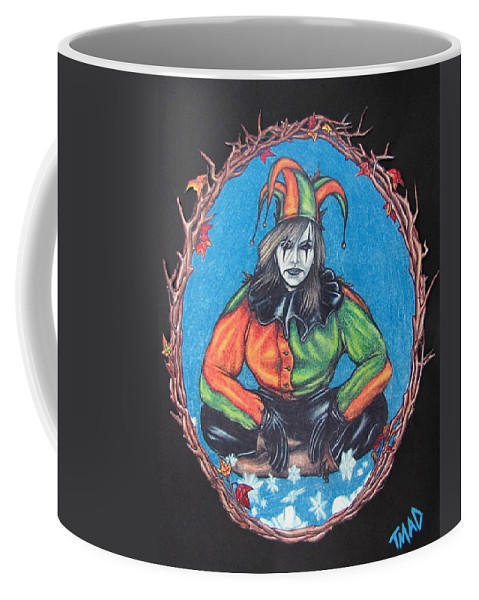 Michael Coffee Mug featuring the drawing November Snow by Michael TMAD Finney