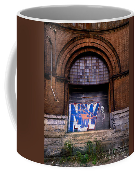 Arch Coffee Mug featuring the photograph Now Graffiti by Amy Cicconi