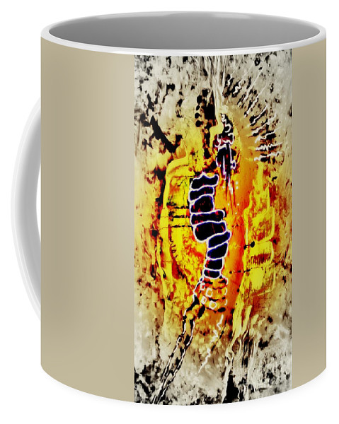 Abstract Painting Coffee Mug featuring the painting Nr. 31 by Annabella Rharbaoui