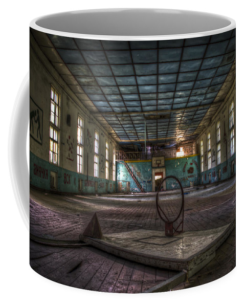 Berlin Coffee Mug featuring the digital art Nuclear Sport by Nathan Wright