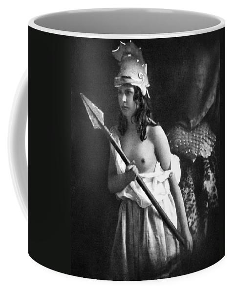 1850 Coffee Mug featuring the photograph Nude As Ancient Warrior by Granger
