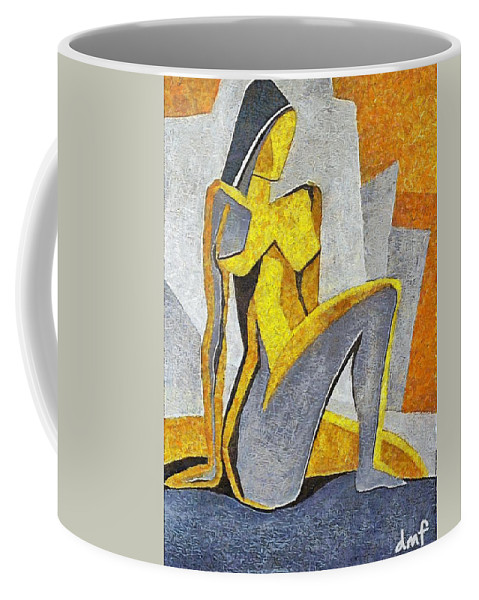 Nude Coffee Mug featuring the painting Nude I by Dragica Micki Fortuna