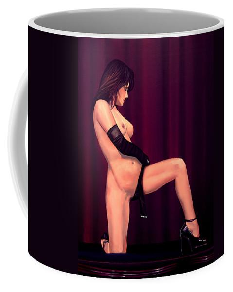 Paul Meijering Coffee Mug featuring the painting Nude Stage Beauty by Paul Meijering
