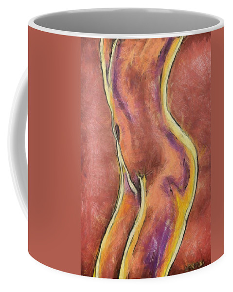 Female Nude Coffee Mug featuring the drawing Nude Vi by Dragica Micki Fortuna