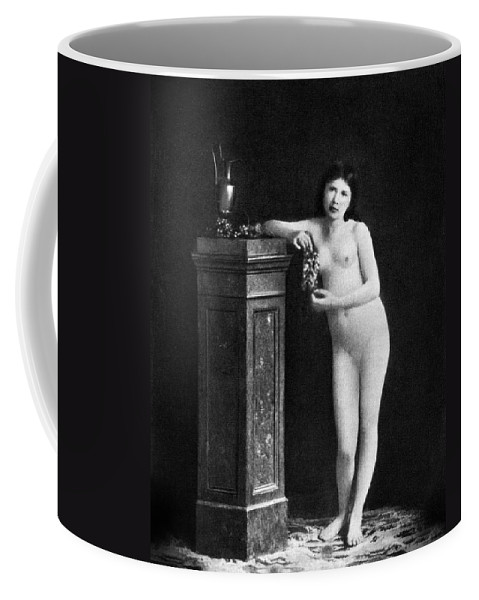1850 Coffee Mug featuring the photograph Nude With Grapes, C1850 by Granger