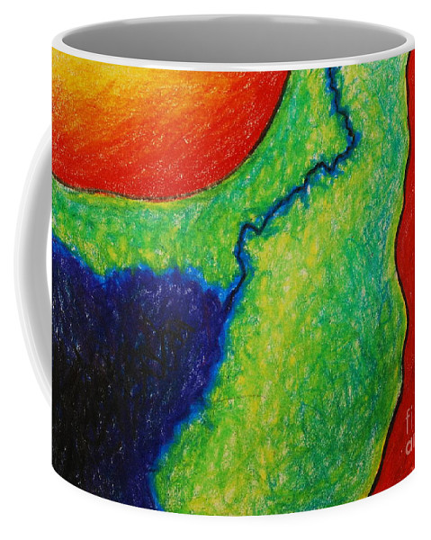 Colored Pencil Coffee Mug featuring the drawing Number 10 by Nancy Mueller